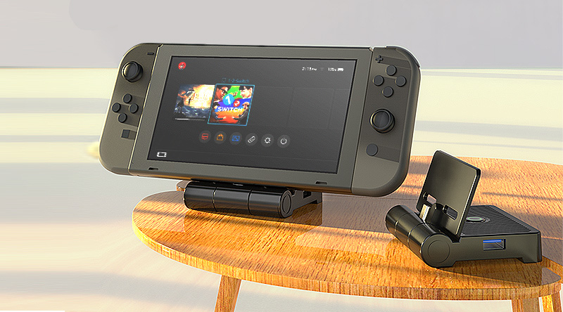 Incredibly small game console dock with amazing technology